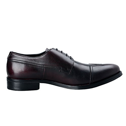 Mens Collection Oxfords Leather IT 11 Deep Versace 44 Burgundy Shoes US 5awpHndxdq