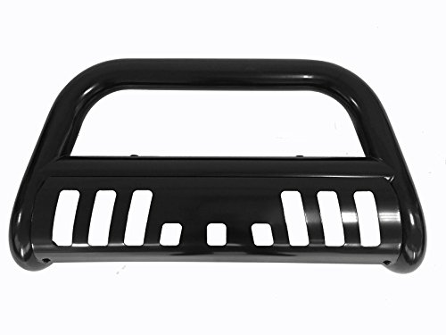 Bull Bar Skid Plate Front Push Bumper Grille Guard Black Steel for 2007-2014 Chevrolet Suburban 1500 / Tahoe / Avalanche / GMC Yukon /Yukon XL 1500 / Cadillac Escalade / Escalade ESV / Escalade EXT