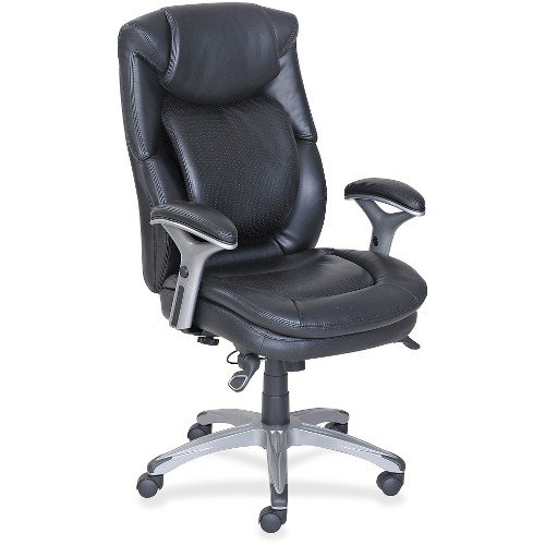 Lorell Leather (Lorell Leather Executive Swivel Office Chair in Black)