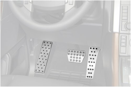 (Putco 932024 Track Design Foot Rest Liquid Solid Billet Pedal)