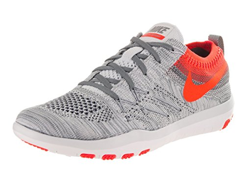 NIKE Women's Free TR Focus Flyknit Running Shoes (6.5 B(M) US, Pure Platinum/Total Crimson)