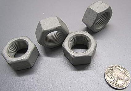 """1 1//8/"""" W x 41//64/"""" H RH 25 Pcs Hex Nut Grade 5 Steel 3//4/""""-16"""