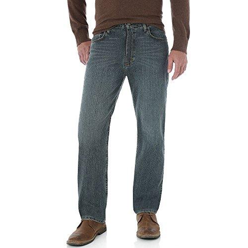 Genuine Wrangler Regular Fit Jeans (Genuine Wrangler Mens Comfort Regular Fit Jeans 32W x 30L Greyed blue)