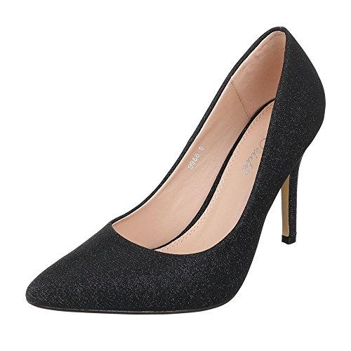Ital-Design - Zapatillas de casa Mujer Schwarz 9968-8