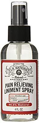 J.R. Watkins Natural Pain Relieving Liniment Spray, Menthol & Camphor, 4 oz (Pack of 2)