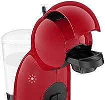 Krups Piccolo KP1A05 - Cafetera cápsulas Dolce Gusto, 15 bares y 1500 W, con depósito de 0.8 l, monodosis multibebidas frías y calientes, manual, color rojo + 3 Packs Café Intenso: Amazon.es: Hogar
