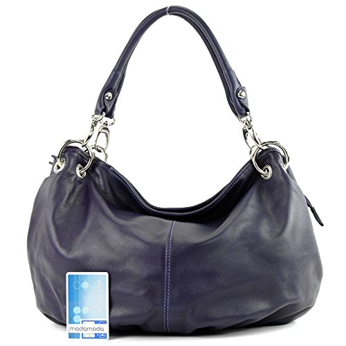 Dunkellila Bag It40 Women's Nappa Shoulder Italian Handbag Leather qxvSzaUw