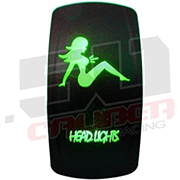 Amazon Com Rocker Switch On Off Green Head Lights Polaris
