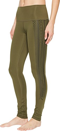 PUMA Women's Everyday Train Graphic Tights Olive Night/Lacing Print Small (Puma Womens Casual Pants)