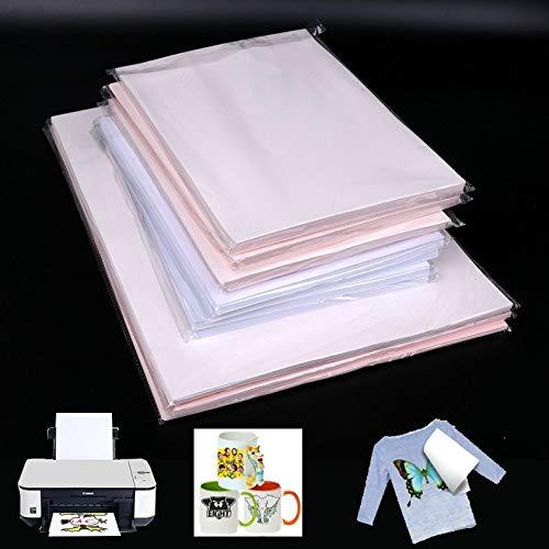 10Pcs Fashion A4 Cloth Light Fabric T-Shirt Iron-On Heat Transfer Paper Painting