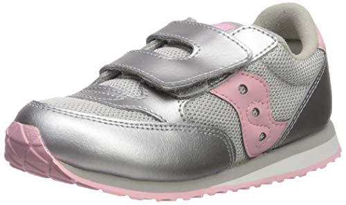 (Saucony Girls' Baby Jazz HL Sneaker, Silver/Metallic, 11.5 M US Toddler)