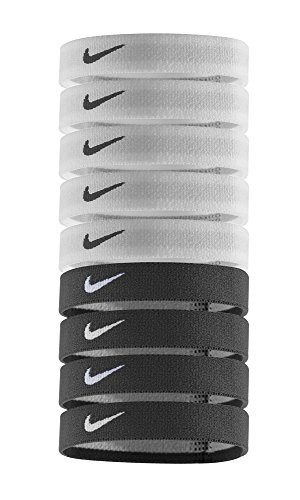 - Nike Sport Hairbands (9pk, One Size Fits Most, White/Black)