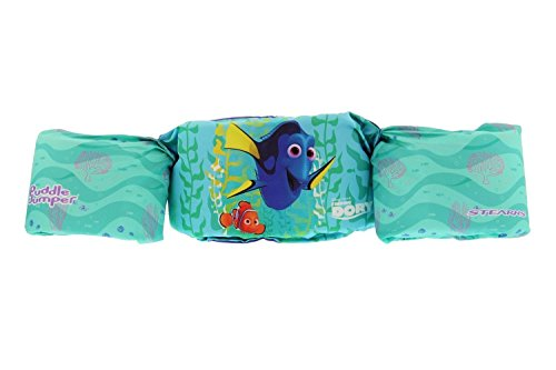 Stearns Original Puddle Jumper Deluxe Child US Coast Guard Approved Life Jacket, fits 30-50 lbs (Finding Dory - Aqua)