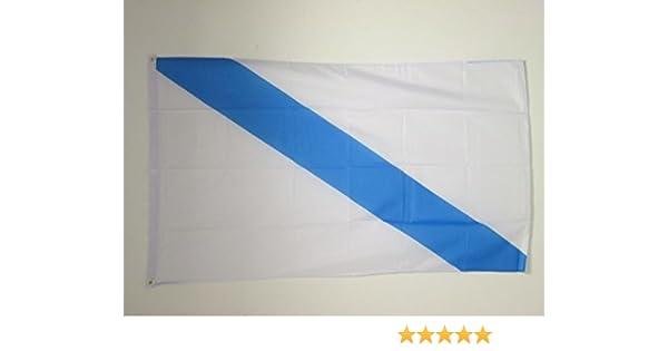 AZ FLAG Bandera de Galicia SIN Armas 150x90cm - Bandera GALLEGA 90 x 150 cm: Amazon.es: Hogar