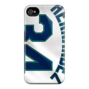 Excellent Design Seattle Mariners Phone Case For Iphone 4/4s Premium Tpu Case