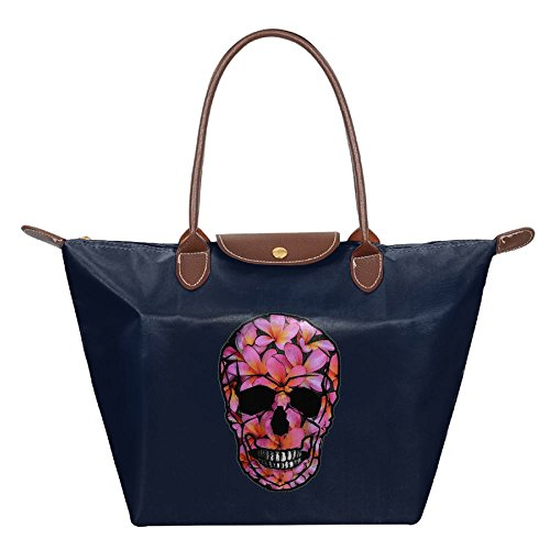 Navy Tote Hobo Skull Bag Womens Beach Bags Shoulder Fashion Pink Handbag RvcHHW1q
