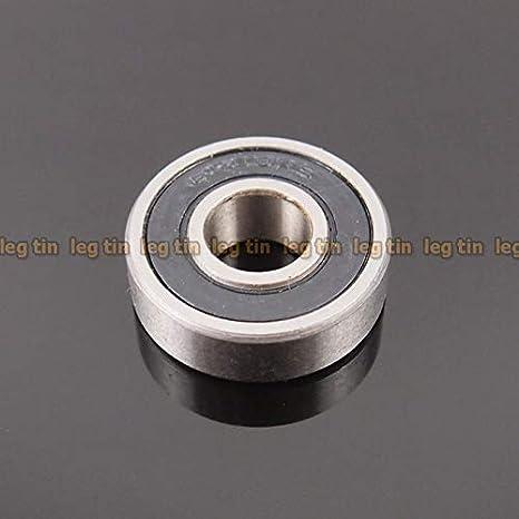 Black 6000-2RS 10x26x8 mm Rubber Sealed Ball Bearing Bearings 10pcs