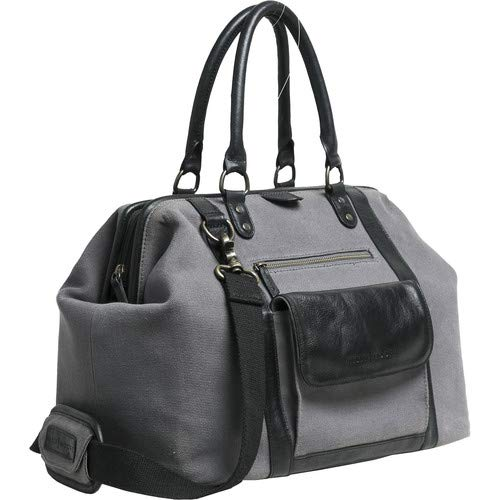 Jude 2.0 Gray Canvas Bag with Black Leather Accents [並行輸入品]   B07MK6TDDQ