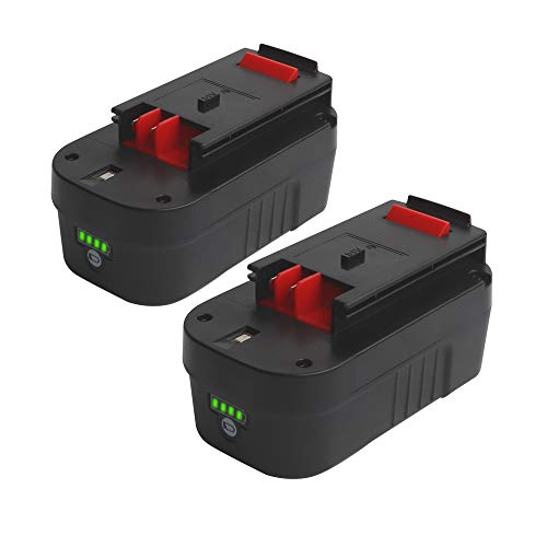 2 Pack HPB18-OPE 18V Battery for Black and Decker 18V 5.0Ah HPB18 244760-00 A1718 Cordless Power Tools Battery