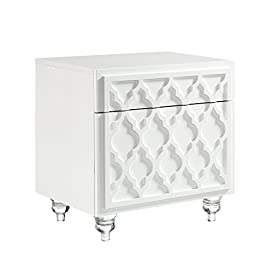 White Antique Revival Tonale Styles Mirabelle Night Stand White