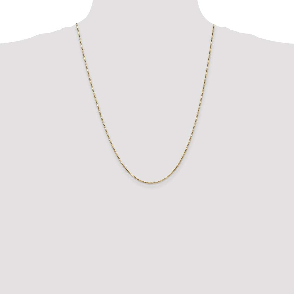 10k Yellow Gold 1.30mm Box Chain Necklace Lobster Clasp 30inch