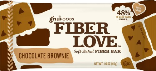 Gnu Foods Fiber Love, Choc Brownie, 1.60-Ounce (Pack of 8)
