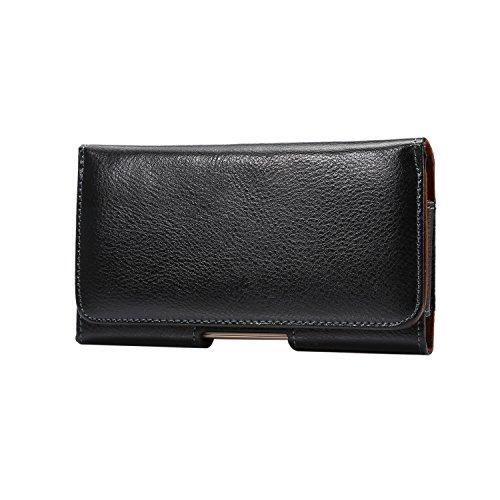 Lordwey® 6.3inch universal teléfono móvil horizontal funda de la bolsa de la correa, cuero genuino funda de la cartera de cintura para Samsung Mega6.3/i9208/9152