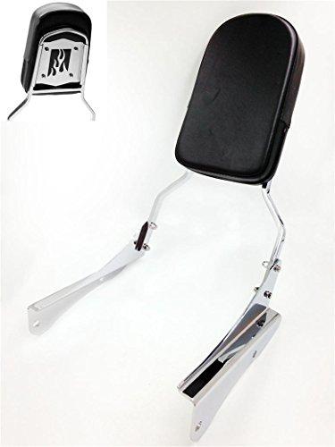 HK MOTO- Motorcycle Flame Backrest Sissy Bar For 2001-2008 Honda Shadow Spirit 750 Vt750 (2003 Honda Shadow Spirit 750 Sissy Bar)