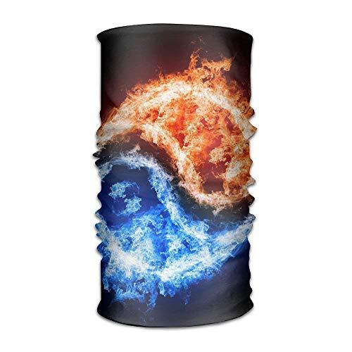Ocabags Red To Blue Flames Yin-yang Multifunctional Magic Headwear 12-in-1...