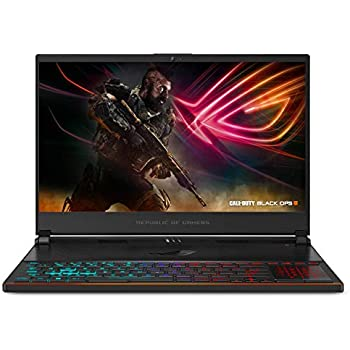 "ASUS ROG Zephyrus S Ultra Slim Gaming PC Laptop, 15.6"" 144Hz IPS Type, Intel Core i7-8750H CPU, GeForce GTX 1070, 16GB DDR4, 512GB PCIe SSD, Military-Grade Metal Chassis, Win 10 Home - GX531GS-AH76"