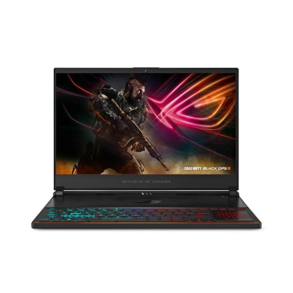 "ASUS ROG Zephyrus S Ultra Slim Gaming PC Laptop, 15.6"" 144Hz IPS-Type, Intel i7-8750H Processor, GeForce GTX 1070, 16GB DDR4, 512GB NVMe SSD, Military-grade Metal Chassis, Win 10 Home- GX531GS-AH76 1"