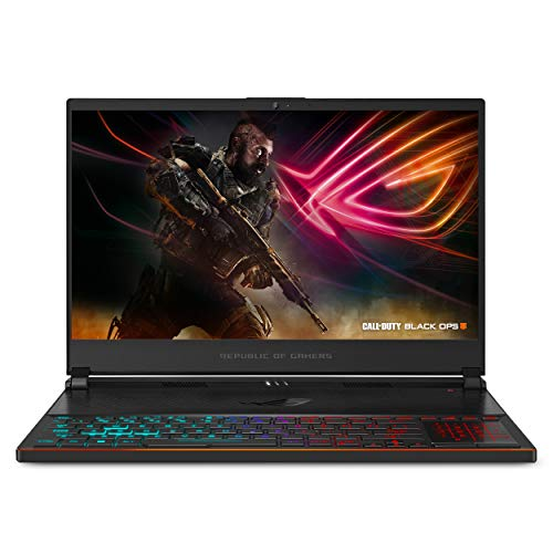 "ASUS ROG Zephyrus S Ultra Slim Gaming PC Laptop, 15.6"" 144Hz IPS-Type, Intel i7-8750H Processor, GeForce GTX 1070, 16GB DDR4, 512GB NVMe SSD, Military-grade Metal Chassis, Win 10 Home- GX531GS-AH76"