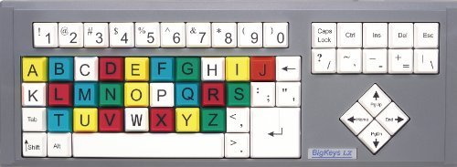 BigKeys LX ABC Large Print USB Wired Keyboard - Colored Keys