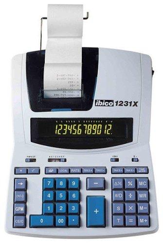 Rexel IB404009 Ibico 1231x Calcolatrice Scrivente Professionale, Bianco/Blu ACCO Brands Calcolatrici Calcolatriciscriventi