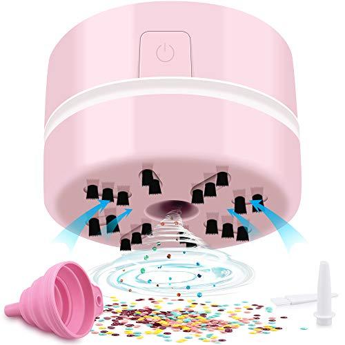 Pintura diamante aspirador manual rosa
