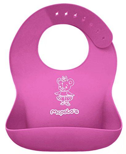 mcpolos-cutest-pink-ballerina-ibib-100-portable-silicone-baby-bib-waterproof-food-crumb-catcher-pock