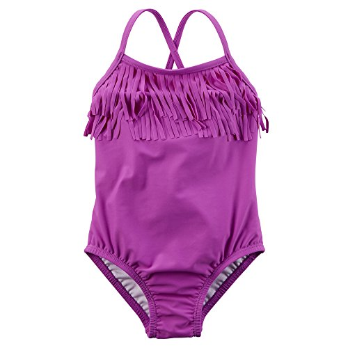 Carter's Baby Girls' 1-piece Swimsuit (Baby) (12 Months, Purple Fringe)