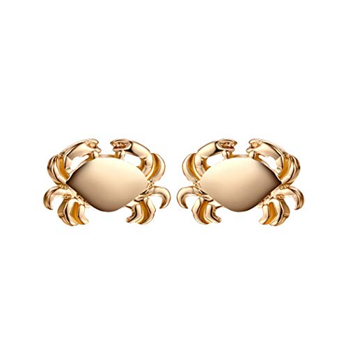 MIXIA Tiny Crab Earrings for Women Jewelry Cancer Zodiac Animal Charm Jewelry Ocean Inspired Vintage Gold Earrings Gift (Gold)