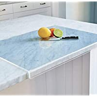 Kitchen Cutting Board with Lip - Non Slip (Clear Acrylic) - 24 Inches x 18 Inches x 1.5 Inch Lip