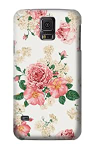 S1859 Rose Pattern Case Cover For Samsung Galaxy S5 by mcsharks