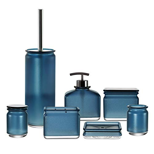 IMMANUEL Everyday 7 Piece Bathroom Accessory Set- Blue