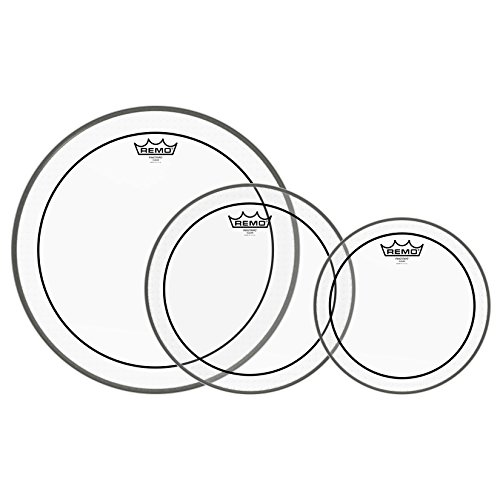 Remo PP-1470-PS Pinstripe Clear Tom Drumhead Pack - 10', 12' & 16'