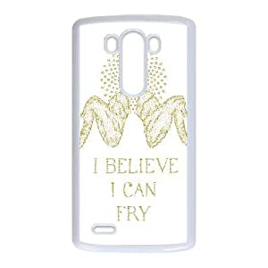 LG G3 Cell Phone Case White_I BELIEVE I CAN FRY Orfjg