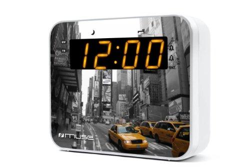 Muse M-165 New York Design digitales Uhren-Radio (UKW-Radio mit Senderspeichern, Dual-Alarm, Dimmer)