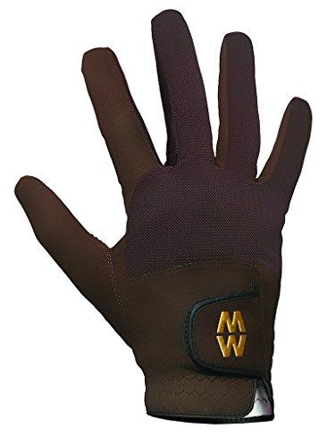 (Macwet Men's & Women's 1 Pair Short Mesh Sports Gloves 7 Brown)