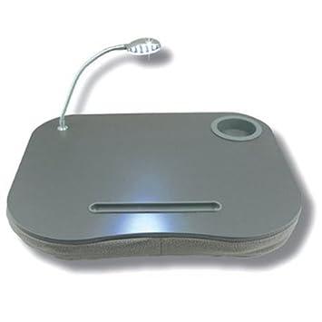 Cojín con bandeja para ordenador portátil CostMad (incluye iluminación LED y soporte para bebidas): Amazon.es: Informática
