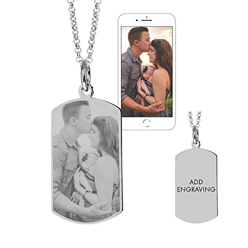 - Eve's Addiction Stainless Steel Dog Tag Photo Pendant