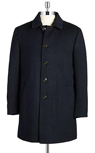 RALPH LAUREN Men's 3/4 Classic-Fit Down-Filled Wool Overcoat (40 Regular, Navy) by RALPH LAUREN