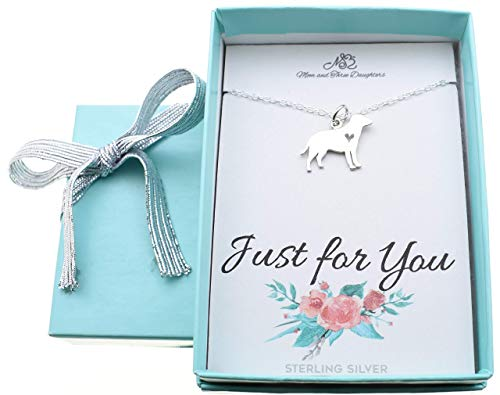 Sterling Silver Labrador Retriever - Little girl's Labrador Retriever charm necklace in sterling silver on a 14 inch Sterling Silver Cable chain with 2
