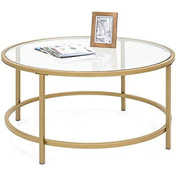 Amazon Com Sauder International Lux Round Coffee Table In